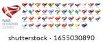 set of flags of europe. vector... | Shutterstock .eps vector #1655030890