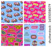 set of seamless patterns with...   Shutterstock .eps vector #1655058079