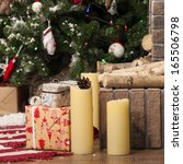 christmas presents with... | Shutterstock . vector #165506798