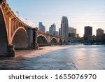 Minneapolis Skyline Frozen...