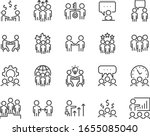set of business icons  teamwork ... | Shutterstock .eps vector #1655085040