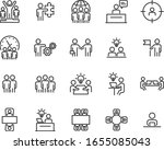 set of business icons  teamwork ... | Shutterstock .eps vector #1655085043