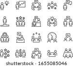 set of business icons  teamwork ... | Shutterstock .eps vector #1655085046