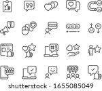 set of feedback icons  customer ... | Shutterstock .eps vector #1655085049