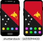two black smartphones with a... | Shutterstock .eps vector #1655094433