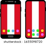 two black smartphones with a... | Shutterstock .eps vector #1655098720