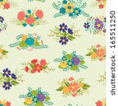 romantic seamless pattern of... | Shutterstock .eps vector #165511250