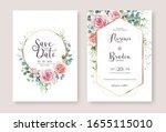 set of floral wedding... | Shutterstock .eps vector #1655115010