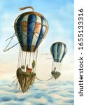 Air Balloon With Flying Islands ...