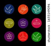 set of crown icons in a flat...   Shutterstock .eps vector #1655149096