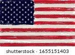 grunge usa flag. american flag... | Shutterstock .eps vector #1655151403