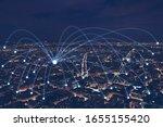 network communication or... | Shutterstock . vector #1655155420
