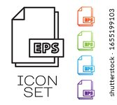black line eps file document.... | Shutterstock .eps vector #1655199103