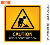 vector  caution under... | Shutterstock .eps vector #165520160