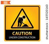 vector  caution under... | Shutterstock .eps vector #165520160