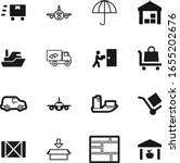 Cargo Vector Icon Set Such As ...