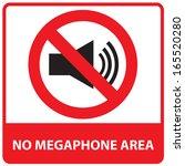 no megaphone or no speaker area ... | Shutterstock . vector #165520280