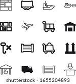 cargo vector icon set such as ...