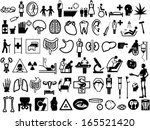 collection of medical icons | Shutterstock .eps vector #165521420