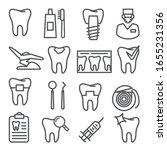 dental line icons set on white...   Shutterstock .eps vector #1655231356