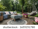 Garden Patio Decorated With...