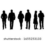 young man and woman walking... | Shutterstock .eps vector #1655253133