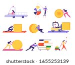 set of businesspeople pushing... | Shutterstock .eps vector #1655253139