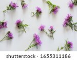 Floral Pattern Of Purple And...