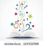 book opened .abstract with... | Shutterstock .eps vector #165532988