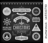 christmas decoration vector... | Shutterstock .eps vector #165533750
