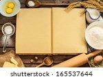 rural vintage wood kitchen... | Shutterstock . vector #165537644