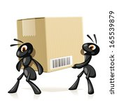 ants delivery. two black ants... | Shutterstock .eps vector #165539879