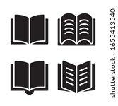 book icon set. vector graphic...