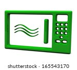 green microwave oven icon  3d | Shutterstock . vector #165543170