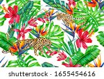 tropical flowers  orchid ... | Shutterstock . vector #1655454616