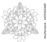 coloring page. hand drawn... | Shutterstock .eps vector #1655462680