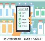 supermarket. customer's hand...   Shutterstock .eps vector #1655472286