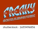 volumetric freaky alphabet of... | Shutterstock .eps vector #1655496856
