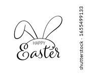 draw vector outline rabbit ears ...   Shutterstock .eps vector #1655499133