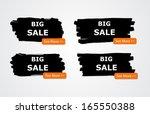 set of paint brush vector... | Shutterstock .eps vector #165550388