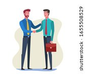 business people shaking hands...   Shutterstock .eps vector #1655508529