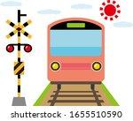 Illustration Of A Train Passin...