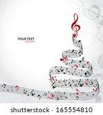 christmas card. musical... | Shutterstock .eps vector #165554810