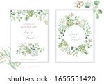 wedding greenery cards  poster... | Shutterstock .eps vector #1655551420