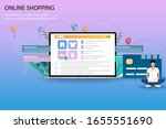 business concept of online...   Shutterstock .eps vector #1655551690