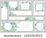 set of greenish floral...   Shutterstock .eps vector #1655553913