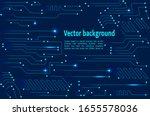 vector circuit board. digital... | Shutterstock .eps vector #1655578036