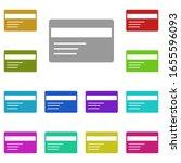 credit card multi color icon....