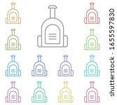 bag multi color icon. simple...