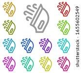 iron multi color icon. simple...